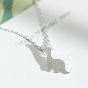 Jewelry - 5 for $25 Silver dainty dinosaur necklace new